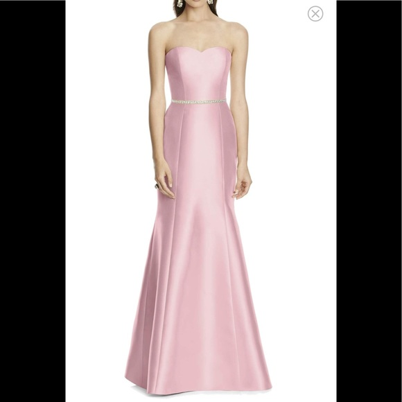 1ffec483ef8 alfred sung Dresses | Strapless Sateen Trumpet Gown Bossom | Poshmark